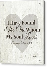 The One Whom My Sould Loves- Art By Linda Woods Acrylic Print by Linda Woods