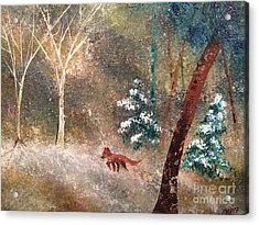 Acrylic Print featuring the painting The Onion Snow by Denise Tomasura