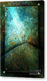 The Only Way Acrylic Print by Shevon Johnson