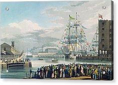 The Opening Of Saint Katharine Docks Acrylic Print