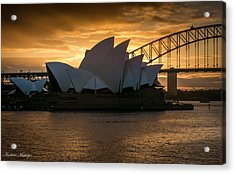 Acrylic Print featuring the photograph The Opera House by Andrew Matwijec