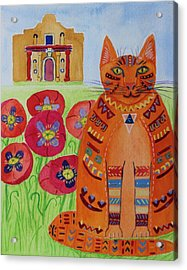 the Orange Alamo Cat Acrylic Print