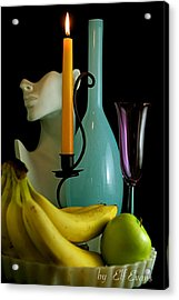 Acrylic Print featuring the photograph The Orange Candle by Elf Evans