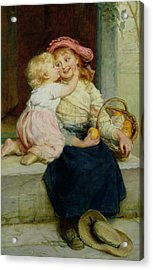 The Orange Seller Acrylic Print by  Frederick Morgan