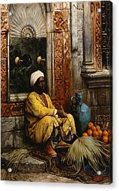 The Orange Seller Acrylic Print by Ludwig Deutsch