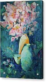 The Orange Vase Acrylic Print