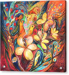 The Orange Wind Acrylic Print by Elena Kotliarker