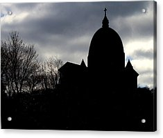 The Oratory - Silhouette Acrylic Print by Robert Knight