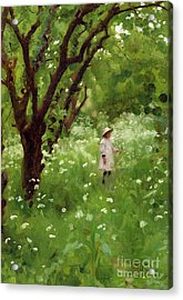 The Orchard  Acrylic Print by Thomas Cooper Gotch