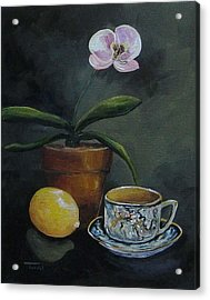 The Orchid And The Dragon  Acrylic Print by Torrie Smiley
