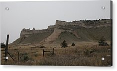 Acrylic Print featuring the photograph The Oregon Trail Scotts Bluff Nebraska by Christopher Kirby
