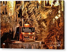 The Organ In Luray Caverns Acrylic Print by Paul Ward