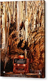 The Organ In The Cavern Acrylic Print by Paul Ward