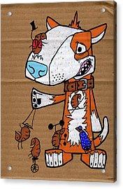 The Original Travelling Flea Circus Acrylic Print by Bizarre Bunny