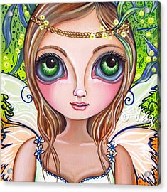 The Original wattle Fairy Painting Acrylic Print