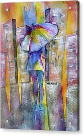 The Other Girl In The City Acrylic Print