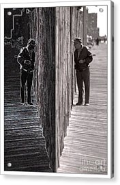 Both Sides Of The Fence Acrylic Print by Jeff Breiman