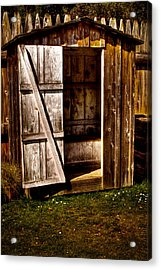 The Outhouse At Fort Nisqually Acrylic Print by David Patterson