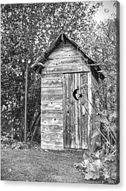 The Outhouse Bw Acrylic Print