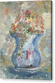 The Oval Vase Acrylic Print by Edward Wolverton