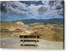 The Overlook At Painted Hills In Oregon Acrylic Print