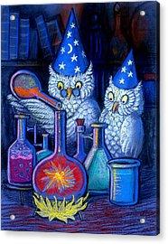 The Owl Chemists Acrylic Print