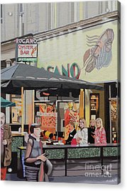 The Oyster Cafe Acrylic Print by Malcolm Warrilow