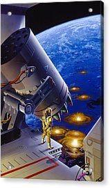 The Pacifist Acrylic Print by Richard Hescox
