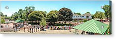 Acrylic Print featuring the photograph The Paddock Area At Monmouth Park by Kristia Adams