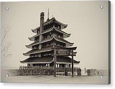 The Pagoda - Reading Pa. Acrylic Print by Bill Cannon