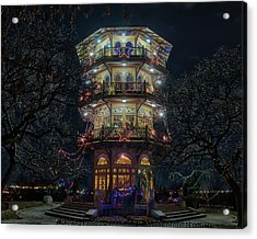 The Pagoda At Christmas Acrylic Print