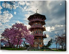 The Pagoda In Spring Acrylic Print