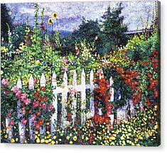 The Painter's Palette Garden Acrylic Print by David Lloyd Glover