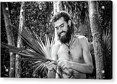 The Palm Frond Weaver Acrylic Print by Marius Sipa