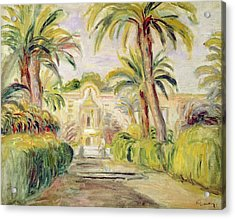 The Palm Trees Acrylic Print by Pierre Auguste Renoir