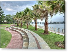 The Palms Of Water Front Park Acrylic Print
