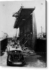 The Panama Canal, A U.s. Navy Floating Acrylic Print by Everett