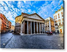 Acrylic Print featuring the painting The Pantheon Rome by David Dehner