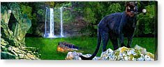 The Panther Acrylic Print by Michael Cleere