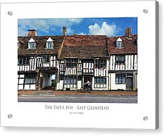 The Paper Boy - East Grinstead Acrylic Print
