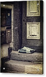 The Paper Boy Was There. Acrylic Print