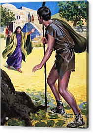 The Parable Of The Prodigal Son Acrylic Print by English School