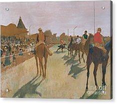 The Parade Acrylic Print by Edgar Degas