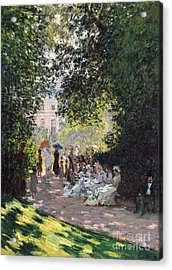 The Parc Monceau, 1878  Acrylic Print by Claude Monet