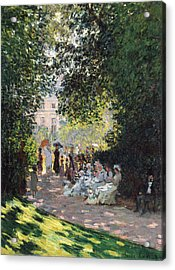 The Parc Monceau Acrylic Print by Claude Monet