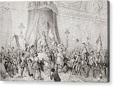 The Paris Revolution Of 1848, The Mob Acrylic Print