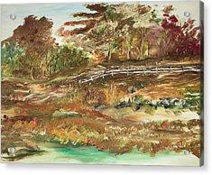 The Park Acrylic Print by Edward Wolverton