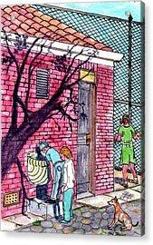 The Park Fountain Brooklyn Ny 1945 Acrylic Print