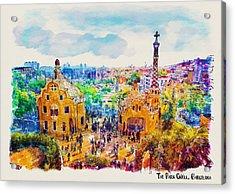 Park Guell Barcelona Acrylic Print by Marian Voicu