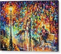 The Park Of Advanture  Acrylic Print by Leonid Afremov
